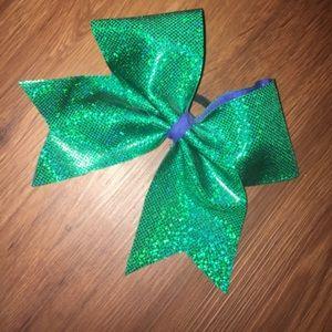 Stingray Allstars Green And Blue Cheer Bow